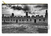 Crown Point Barracks Black And White Carry-all Pouch