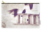 Crows On A Roof Carry-all Pouch by Silvia Ganora