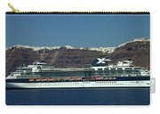 Cruiser Leaving Santorini Island Carry-all Pouch