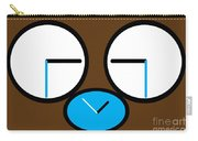 Crying Monkey In Clock Faces Carry-all Pouch