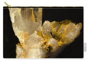 Crystal On Black Carry-all Pouch by Joyce Dickens