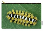 Cup Moth Limacodidae Caterpillar On Leaf Carry-all Pouch