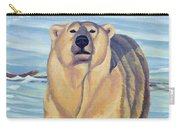 Curiosity - Polar Bear Painting Carry-all Pouch