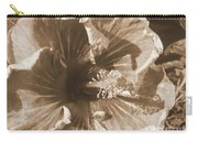 Curly Hibiscus In Sepia Carry-all Pouch