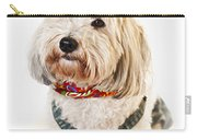 Cute Dog In Halloween Cowboy Costume Carry-all Pouch by Elena Elisseeva