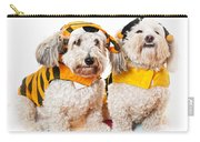 Cute Dogs In Halloween Costumes Carry-all Pouch by Elena Elisseeva