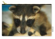 Cute Face Behind The Mask Baby Raccoon Carry-all Pouch