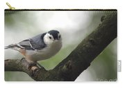 Cute Face Nuthatch Carry-all Pouch