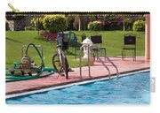 Cycle Near A Swimming Pool And Greenery Carry-all Pouch