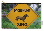 Dachshund Crossing Carry-all Pouch