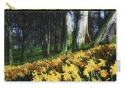 Daffodils Narcissus Flowers In A Forest Carry-all Pouch
