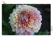Dahlia Dewdrops Carry-all Pouch