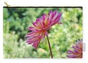 Dahlia Flower Art Print Green Summer Garden Carry-all Pouch