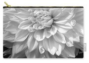 Dahlia In Black And White Carry-all Pouch