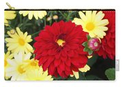 Dahlias And Daisys Carry-all Pouch