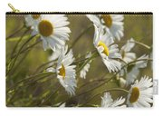Daisies Blowin In The Wind Carry-all Pouch