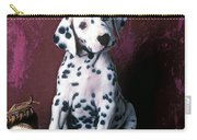 Dalmatian Puppy With Baseball Carry-all Pouch