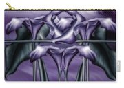 Dance Of The Purple Calla Lilies V Carry-all Pouch