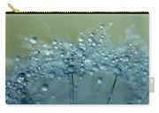Dandelion Drops In Blue Carry-all Pouch