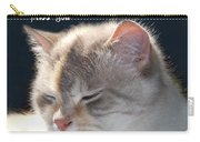 Daphne Cat Miss You Carry-all Pouch