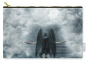 Dark Angel Kneeling On Stairway In The Clouds Carry-all Pouch