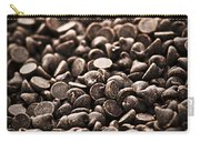 Dark Chocolate Chips Carry-all Pouch by Elena Elisseeva