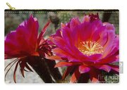 Dark Pink Cactus Flowers Carry-all Pouch