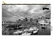 Darling Harbor- Black And White Carry-all Pouch