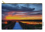 Dawn Skies At The Fishing Pier Carry-all Pouch