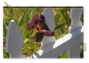 Day Lily And White Fence II Carry-all Pouch