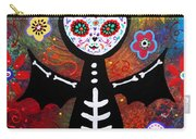 Day Of The Dead Bat Carry-all Pouch