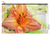 Daylily Greeting Card Birthday Carry-all Pouch