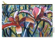 Daylily Stix Carry-all Pouch by Kathy Braud