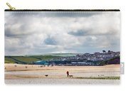 Daymer Bay Beach Landscape In Cornwall Uk Carry-all Pouch