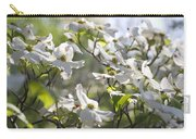 Dazzling Sunlit White Spring Dogwood Blossoms Carry-all Pouch