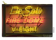 De Soto Fire Dome V Eight Neon Sign Carry-all Pouch
