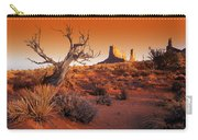 Dead Tree In Desert Monument Valley Carry-all Pouch