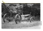 Decaying Wagon Black And White Carry-all Pouch