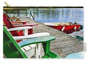 Deck Chairs On Dock At Lake Carry-all Pouch by Elena Elisseeva