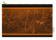 Declaration Of Independence In Orange Carry-all Pouch