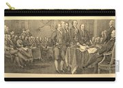 Declaration Of Independence In Sepia Carry-all Pouch