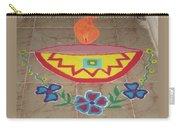Decorative Earthen Diya Rangoli Carry-all Pouch