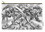 Decorative Engraving Carry-all Pouch