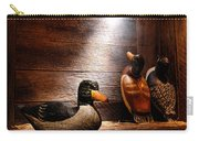 Decoys In Old Hunting Cabin Carry-all Pouch