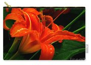 Deep Orange Day Lily Carry-all Pouch