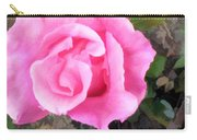Deep Pink Watercolor Rose Blossom Carry-all Pouch