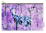 Deer In The Woods Inverted Negative Image Carry-all Pouch