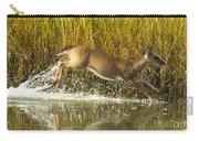 Deer Running Through The Salt Marsh Carry-all Pouch