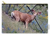 Deer Standing In Wildflowers Carry-all Pouch