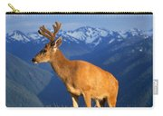 Deer With Antlers, Mountain Range In Carry-all Pouch